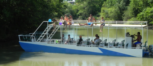 Джубга речной трамвайчик