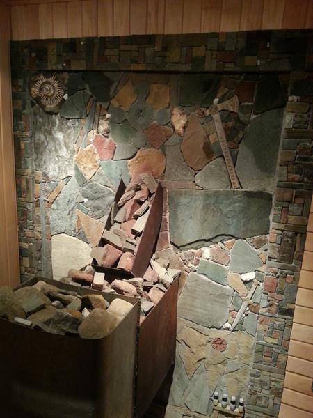 Джубга картина из камня в бане
